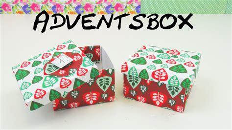 geschenkbox selber basteln anleitung geschenkbox basteln diy weihnachts geschenkebox anleitung adventskalender schachtel