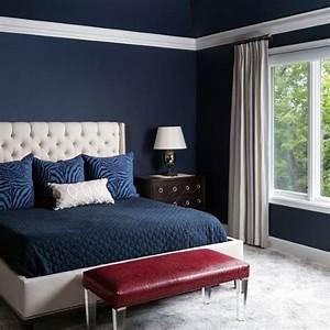 37, Inspiring, Navy, Blue, Bedroom, Decor, Ideas, You, Should, Copy