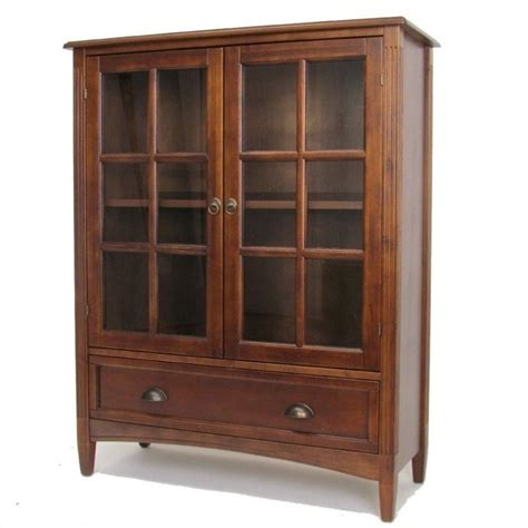 barrister bookcases with glass doors wayborn 1 shelf barrister w gls dr brown bookcase ebay