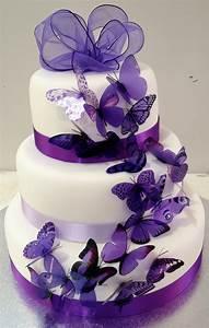 purple butterflies wedding cake | iPunya
