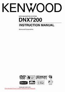 Kenwood Dnx7200 User Guide Manual