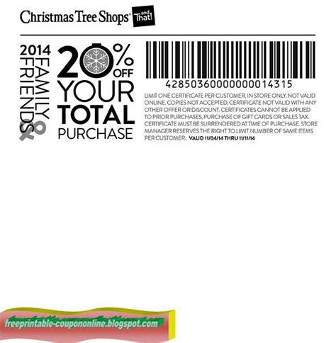 printable coupons 2017 christmas tree shops coupons