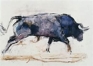 Charging Bull Painting by Mark Adlington