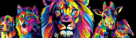 Colourful Animal Wallpaper - colorful wallpaper gallery