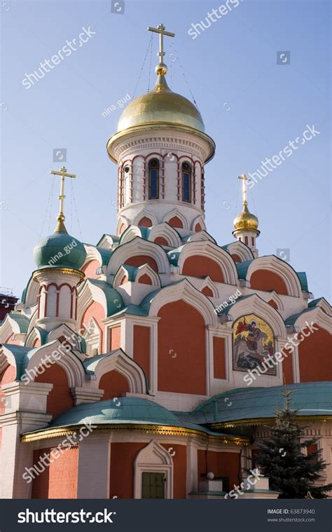 Cathedral Image Our Lady Kazan Monument Stock Photo