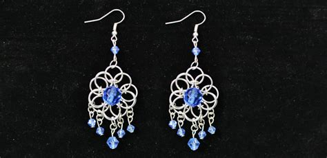 make pretty chandelier earrings with jump rings and