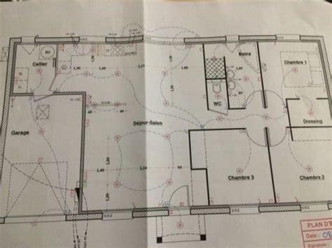 plan electrique salle de bain photo plan electrique avec spots encastr 233 es dans le s 233 jour salon cuisine couloir
