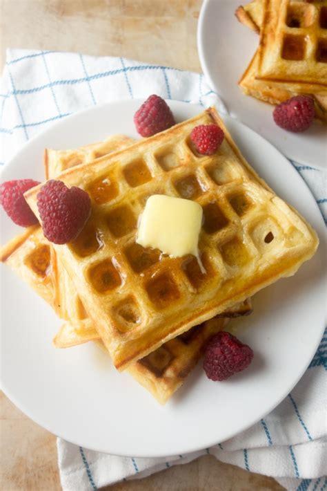 Vanilla Buttermilk Waffles   A Dash of Ginger