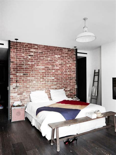 chambre ny maison renovee york chambre style industriel mur