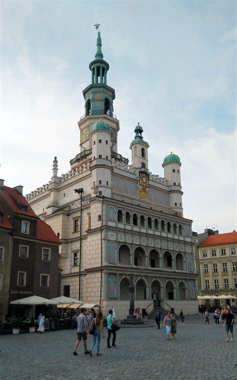 poznan town square hall market poland location
