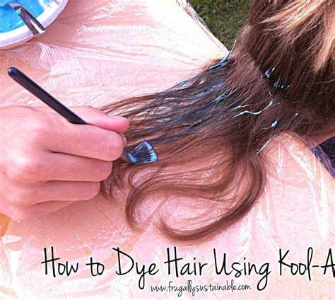 How To Dye Hair Using Kool Aid ~ A Picture Tutorial