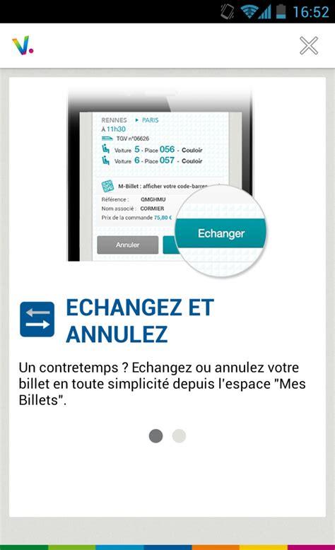 Modifier Billet Sncf Appli by Voyages Sncf Pour Android T 233 L 233 Charger