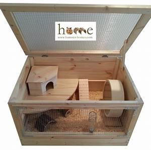 Large 80cm x 50cm Natural Wooden Hamster Cage