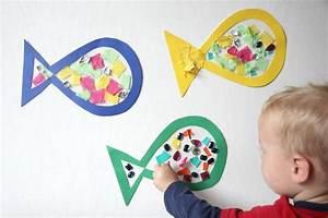 Bastelideen Sommer Kindergarten : fische als sommer bastelidee f r kleinkinder spielen pinterest bastelideen f r kleinkinder ~ Frokenaadalensverden.com Haus und Dekorationen