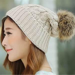 2017 Women's Winter Hats Beanies Knitted Women Cap Crochet ...
