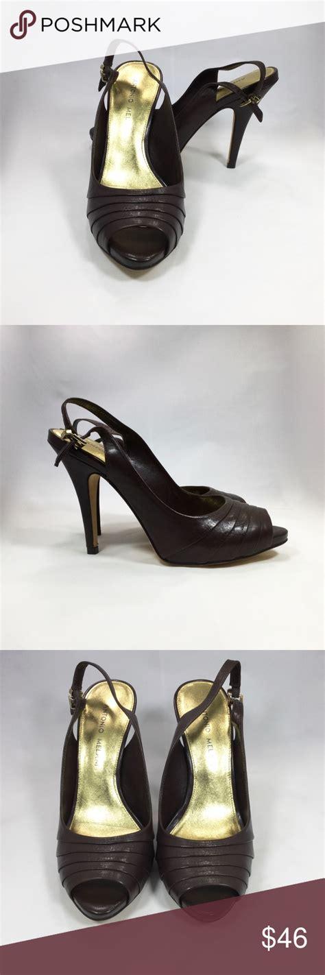 Antonio Melani Leather Brown Pumps size 7 NWT | Brown ...
