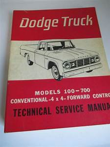 1965 Dodge Truck Shop Service Repair Manual Book Engine