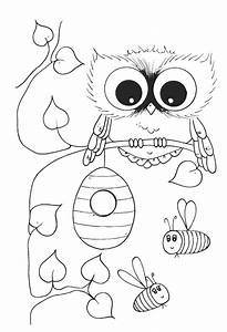 Images of Cute Girl Owl Coloring Pages - #golfclub