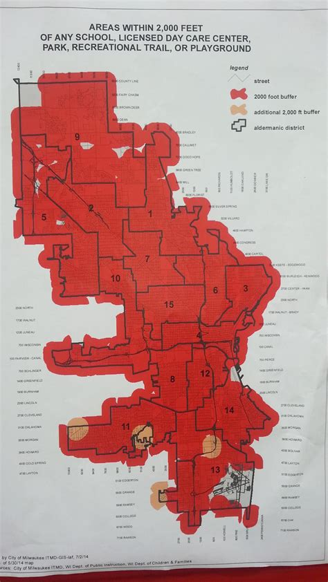 map of where offenders can with the stroke of mayor barrett s pen milwaukee has its