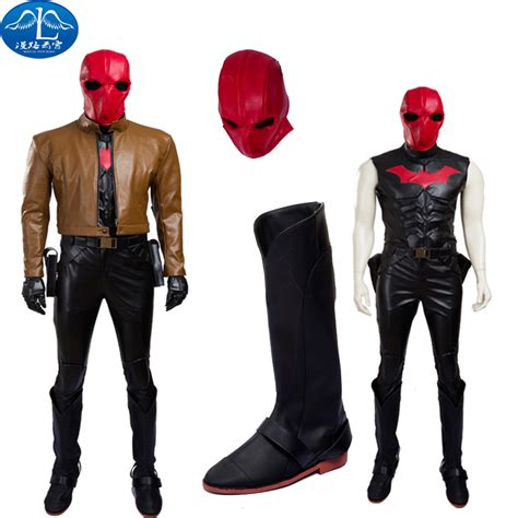 Jason Peter Todd Super Hero Batman Red Hood Cosplay Costume High Quality Outfit With Mask Any ...