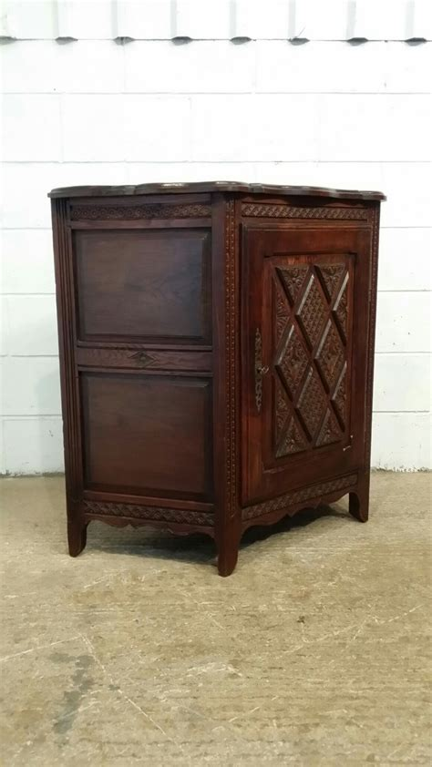 Credence Cupboard by Antique Late 19th Century Provincial Carved Oak