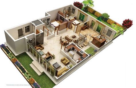 awesome villa floor plan  images house  model