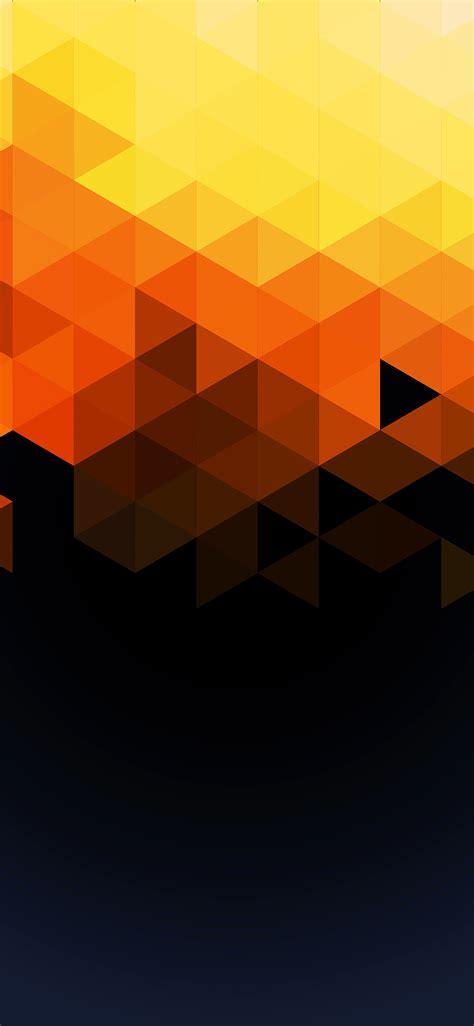 va wallpaper triangle fall orange pattern wallpaper
