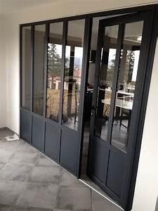 fabricant installateur de verriere et separation de piece With porte de garage et porte intérieure type atelier
