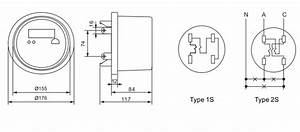 Dds5558 2s Single Phase Cl200 Socket  Round Electric House