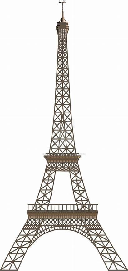 Eiffel Tower Paris Transparent Dimensional Clipart Sticker