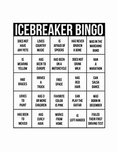 10 best images of ice breaker bingo printable bingo ice With ice breaker bingo template