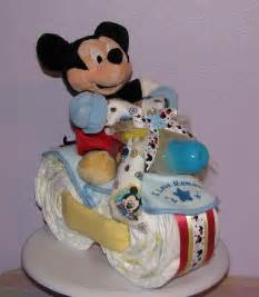 Mickey Mouse Baby Shower Diaper Cake