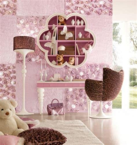 Kinderzimmer Wandgestaltung Mädchen by Farbkombination Im M 228 Dchenzimmer Mit Rosa Und Braun