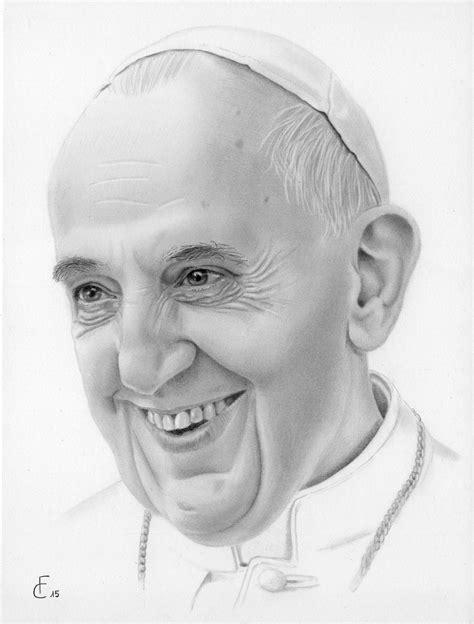 disegni cantanti famosi matita papa francesco ritratto disegno a matita sorriso e umanit 224