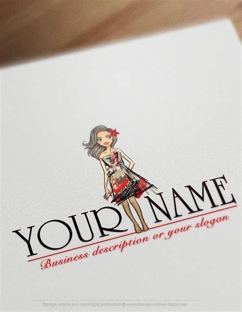 exclusive design girl fashion logo compatible