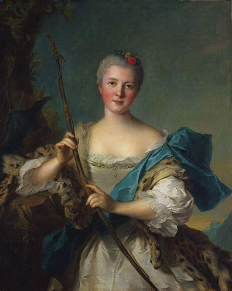 portrait of marquise de pompadour portrait of madame de pompadour as diana 1752