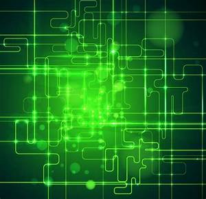 Abstract green technology business artwork background ...