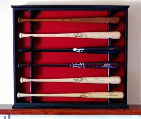 wall mounted open front baseball bat display case stagg sports