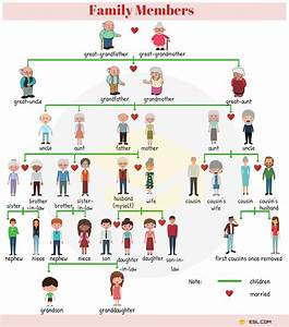Family Relationship Chart  Useful Family Tree Chart With