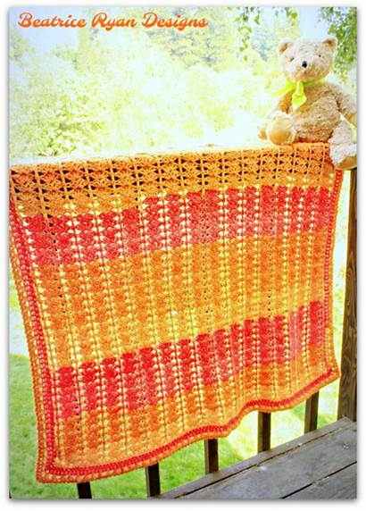 Blanket Crochet Sweet Sunset Allfreecrochet