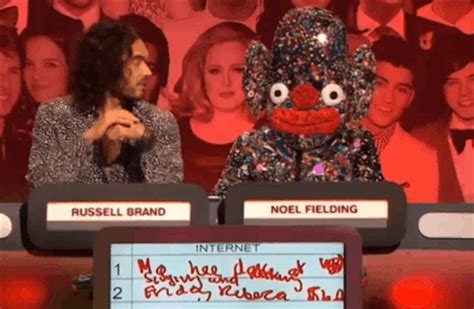 russell brand on bake off noel fielding banned from wearing quot wacky quot outfits on the