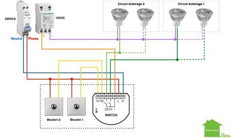 schema electrique eclairage exterieur tutoriels et manuels domotique store fr domotiser 233 clairage cas du circuit d 233 clairage