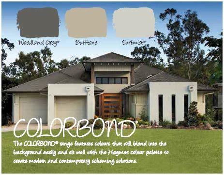 haymes paint exterior colour scheme colourbond woodland