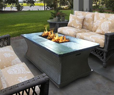 outdoor gas fireplace table outdoor gas fire pit coffee table monterey series