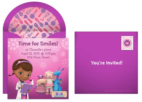 doc invitation template plan a cuddly doc mcstuffins birthday