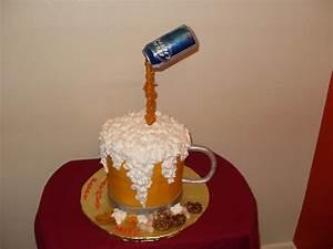 Mike's Beer Mug Birthday Cake - CakeCentral com