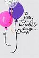 Jill Scott Balloons for an Incredible Woman Birthday Card ...