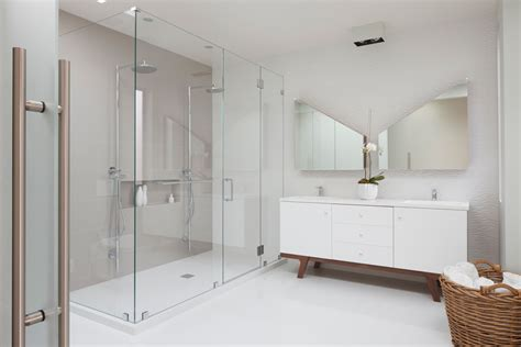 cathedral ceiling recessed lighting shower system bathroom contemporary with aco drain