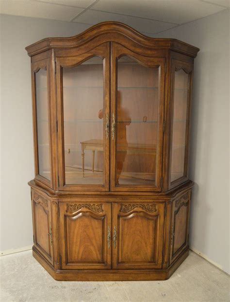 provincial china cabinet white furniture provincial style china cabinet ebay