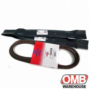42 U0026quot  Blade  U0026 Belt Kit For John Deere Gy20995 Fits L100 L108